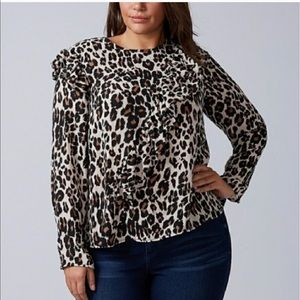 Lane Bryant Long Sleeves Animal Print blouse